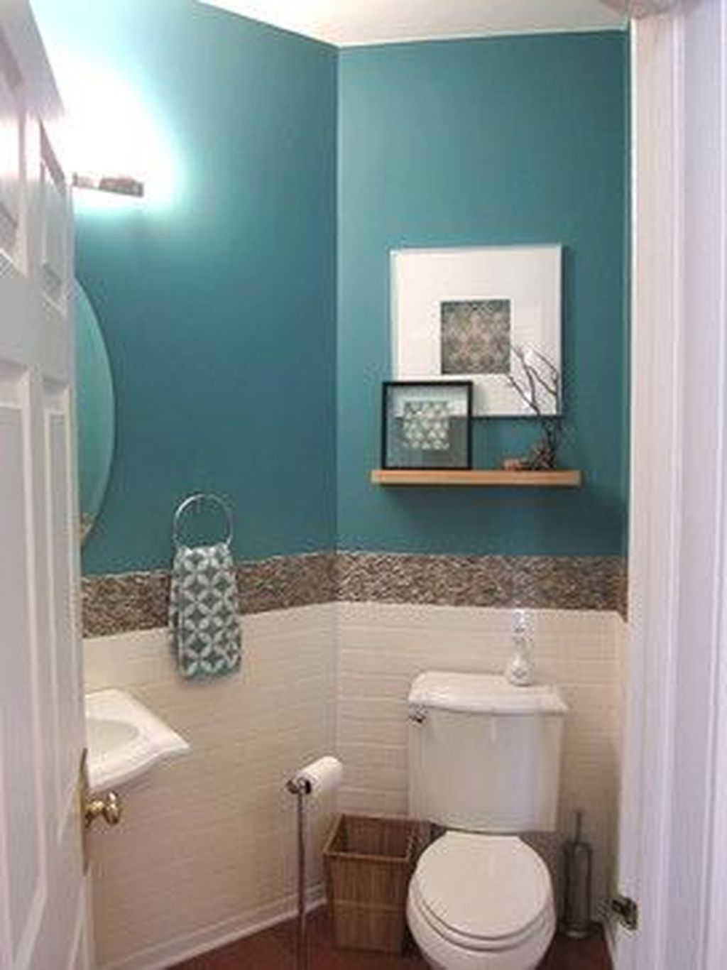 Awesome Coastal Style Bathroom Decorating Ideas 24