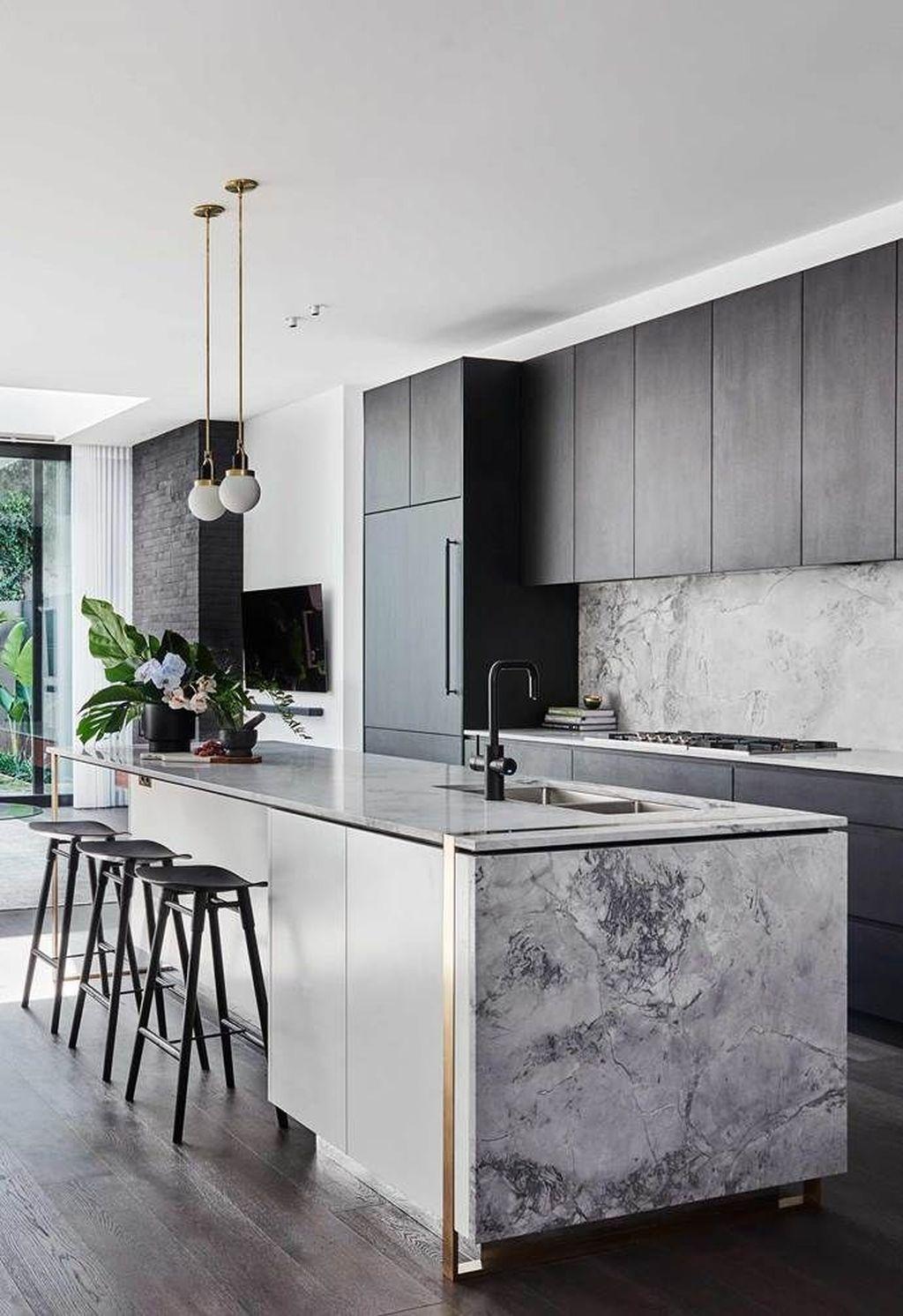 40 Gorgeous Modern Kitchen Design Ideas - HMDCRTN