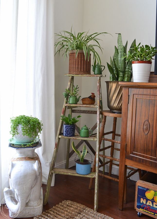 Gorgeous Vintage Ladder Decor Ideas 02