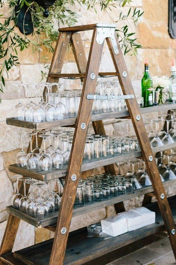 Gorgeous Vintage Ladder Decor Ideas 04