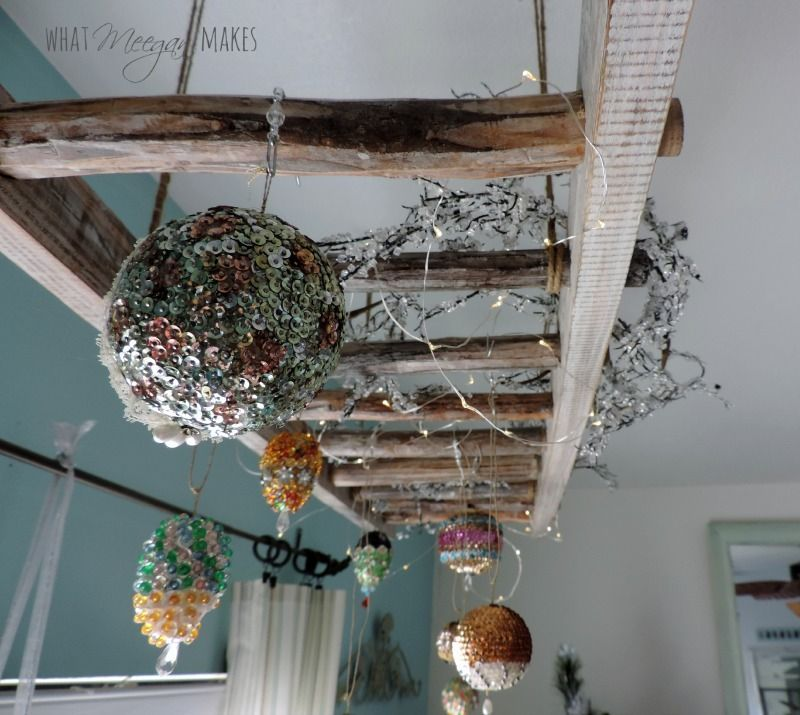 Gorgeous Vintage Ladder Decor Ideas 06