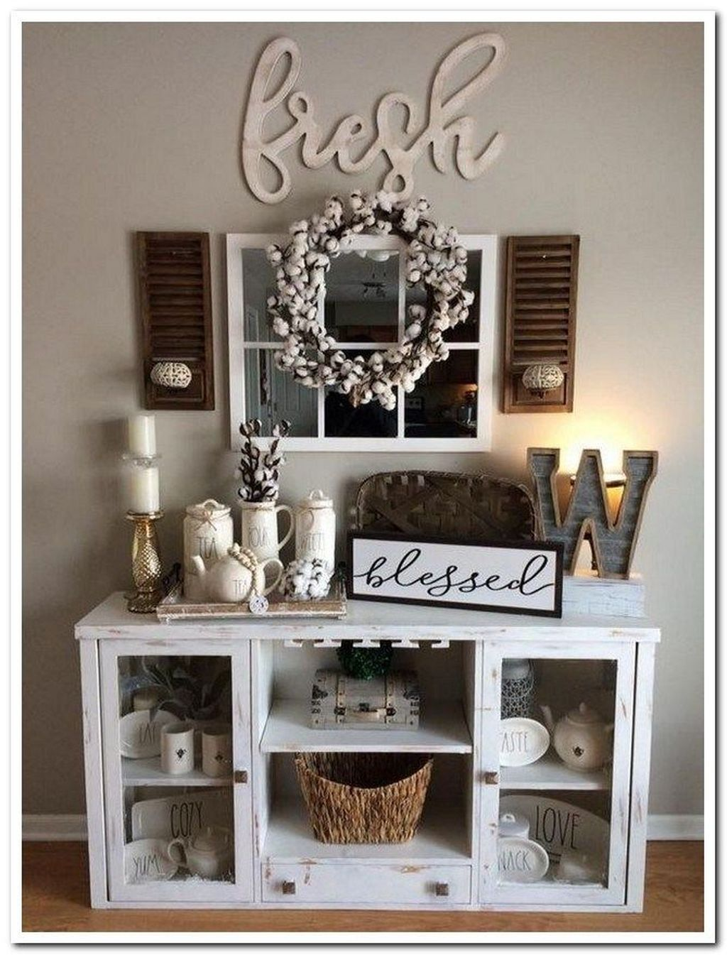 Inspiring DIY Farmhouse Home Decor Ideas 11