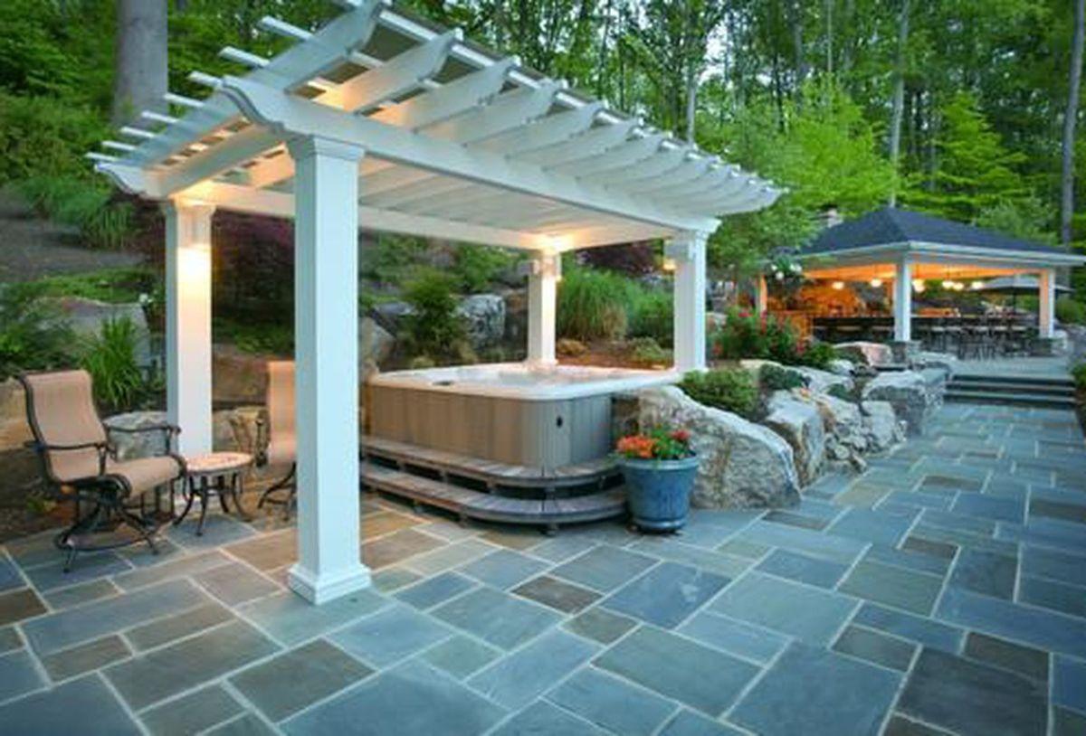 Inspiring Hot Tub Patio Design Ideas For Your Outdoor Decor 09