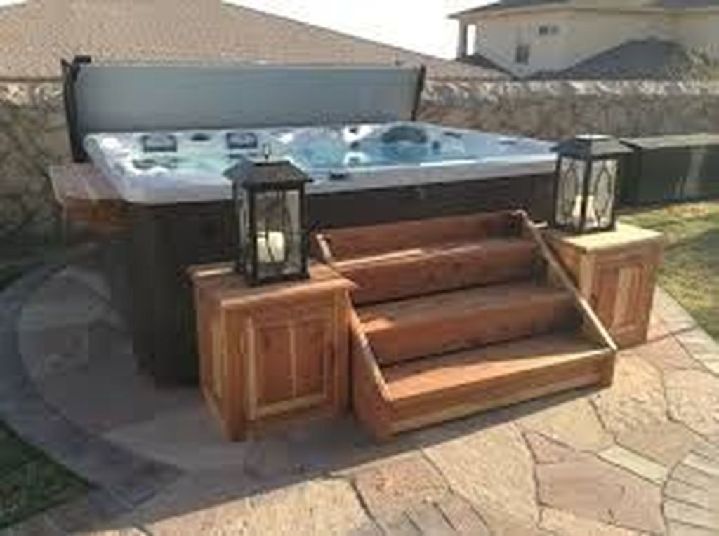 Inspiring Hot Tub Patio Design Ideas For Your Outdoor Decor 27