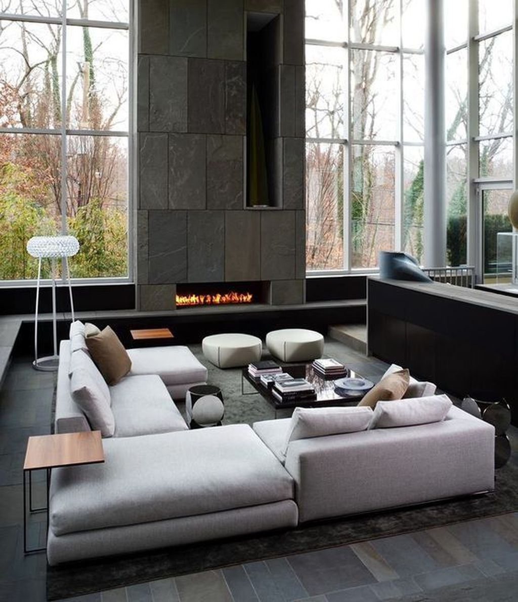 Luxury Living Room Design Ideas With Modern Accent 09