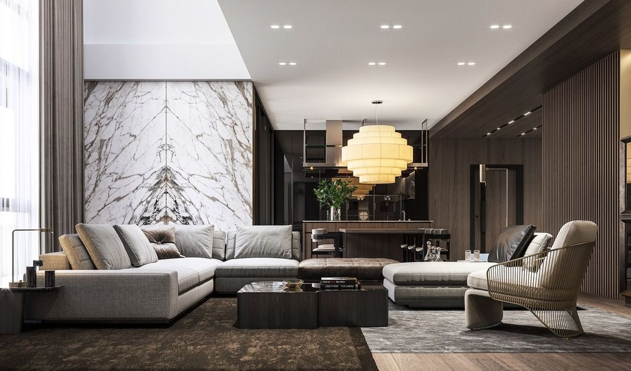 Luxury Living Room Design Ideas With Modern Accent 16