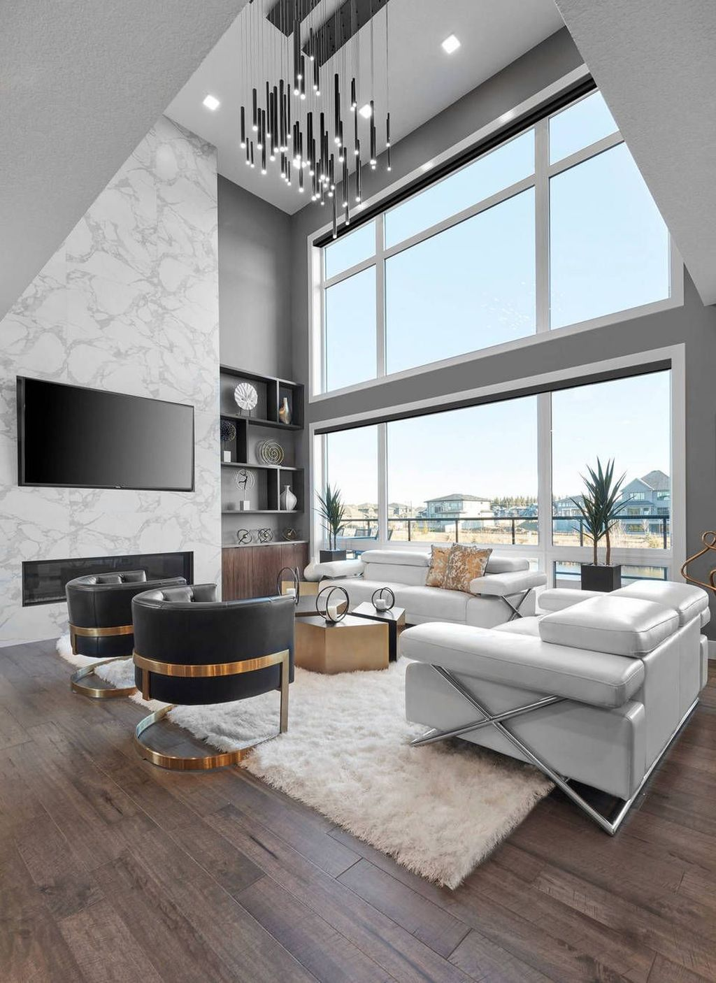 Luxury Living Room Design Ideas With Modern Accent 32