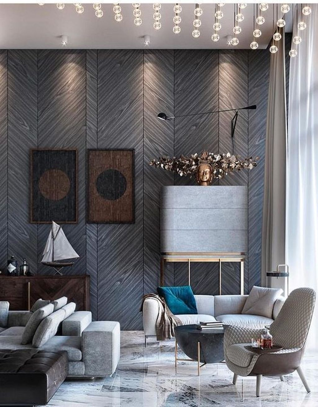 Luxury Living Room Design Ideas With Modern Accent 33