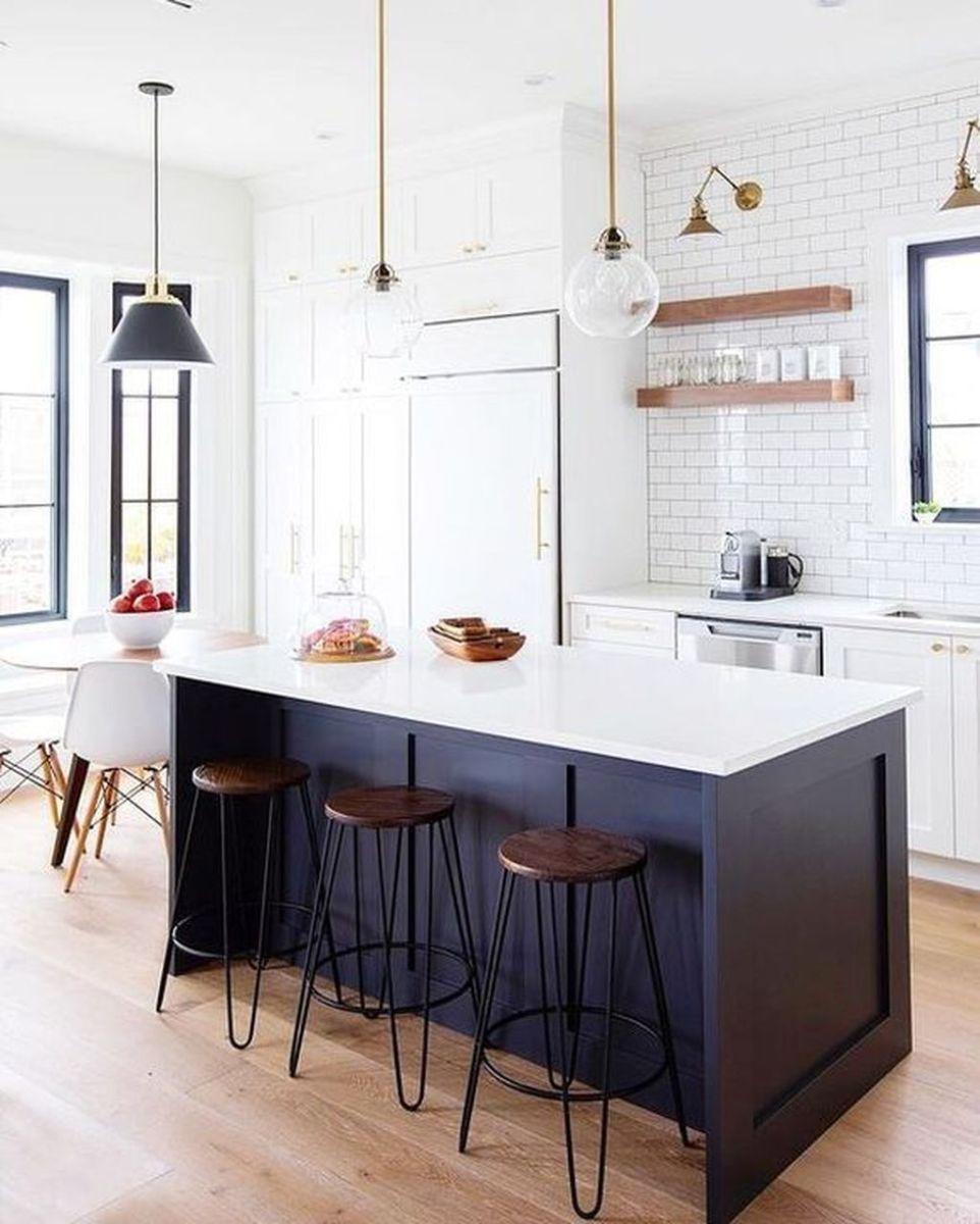 Stunning Black Kitchen Island Ideas 32