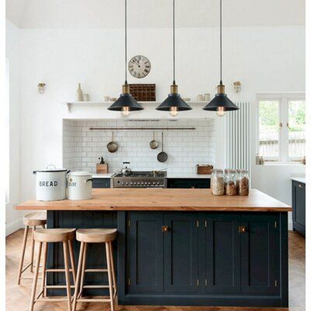 Stunning Black Kitchen Island Ideas 34