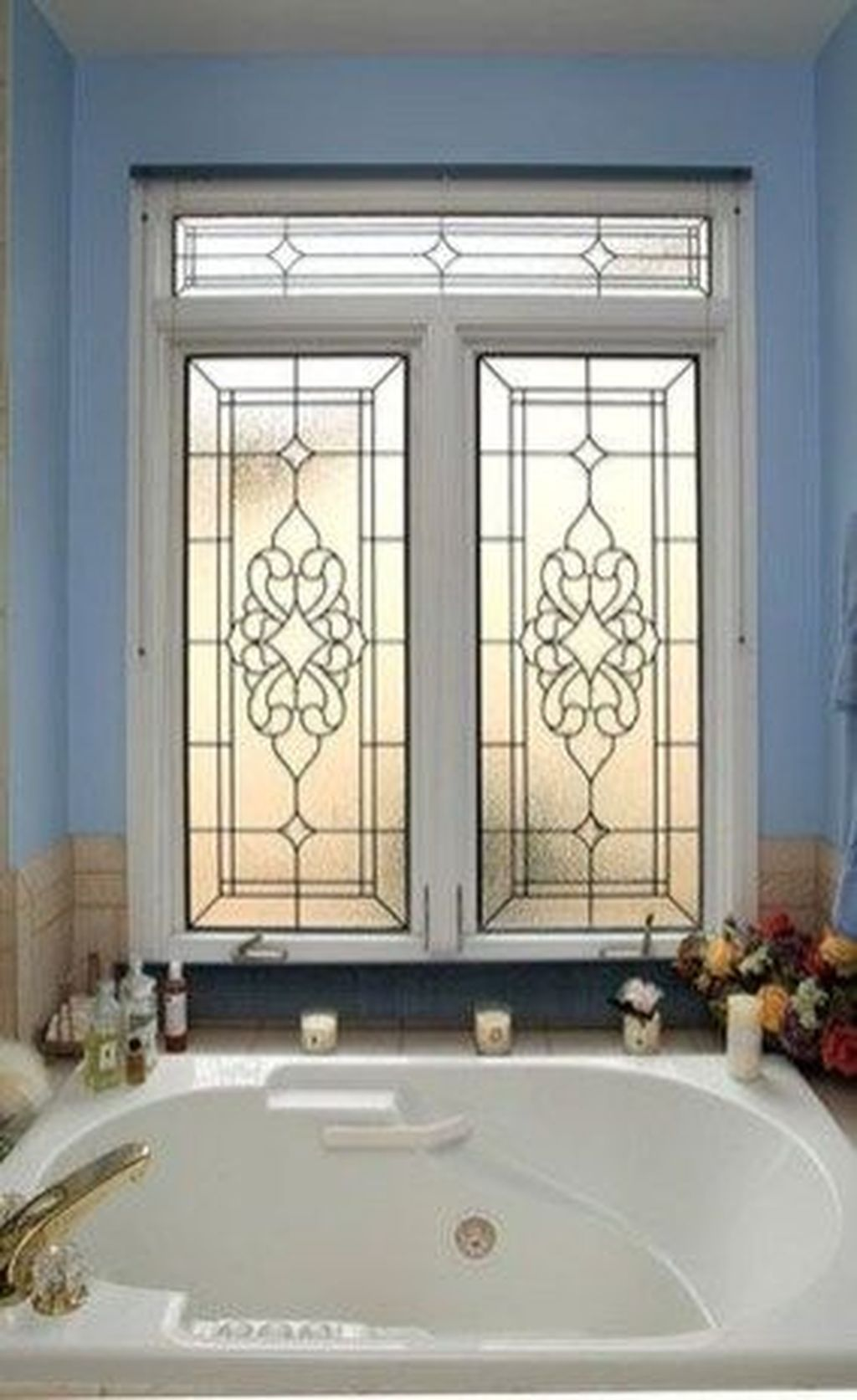 Stunning Leaded Glass Windows Design Ideas 01
