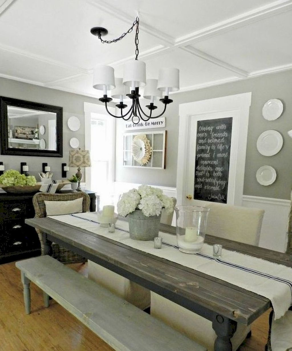 The Best Rustic Dining Room Decoration Ideas 09