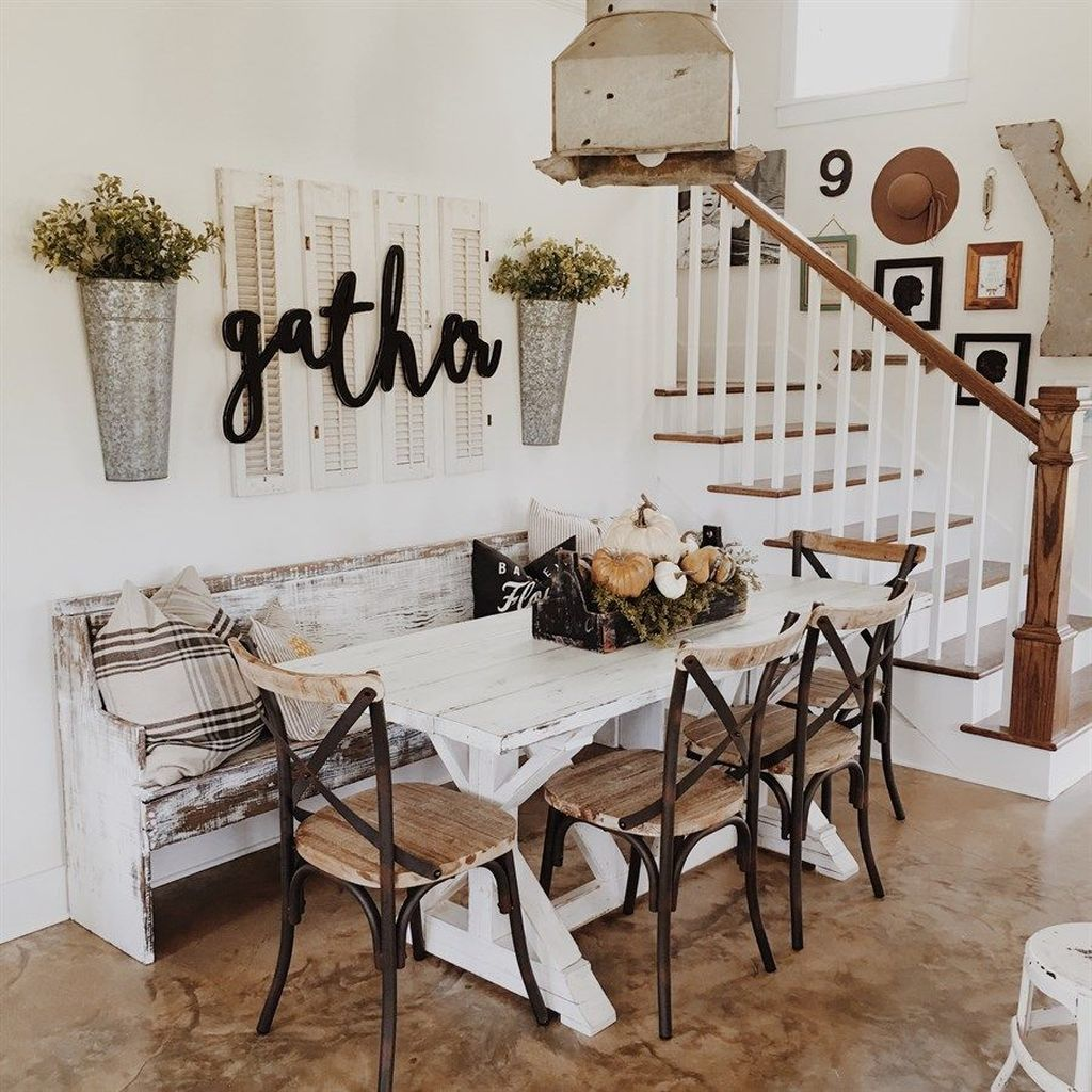 The Best Rustic Dining Room Decoration Ideas 36