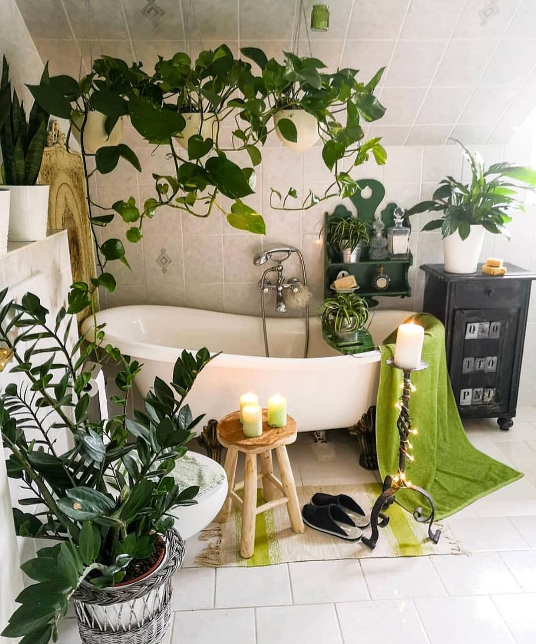 Amazing Bohemian Style Bathroom Decor Ideas 13