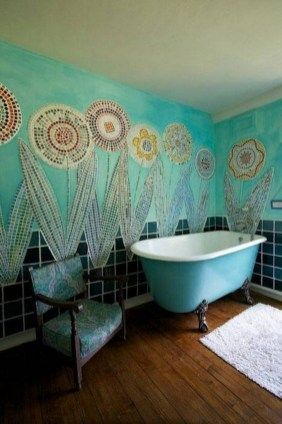 Amazing Bohemian Style Bathroom Decor Ideas 23