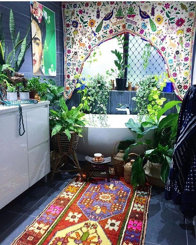 Amazing Bohemian Style Bathroom Decor Ideas 31