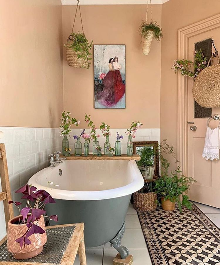 Amazing Bohemian Style Bathroom Decor Ideas 36