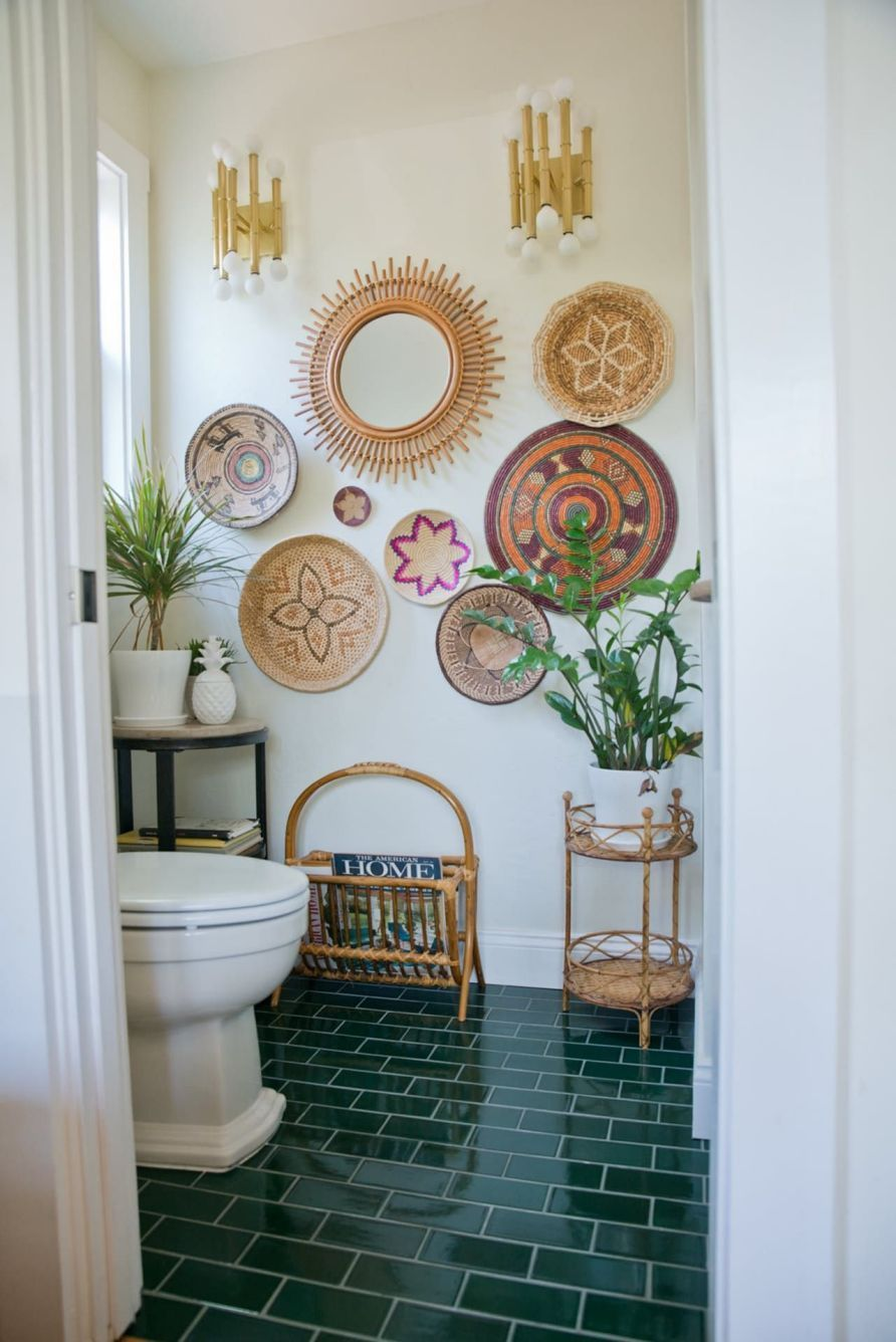 Amazing Bohemian Style Bathroom Decor Ideas 40