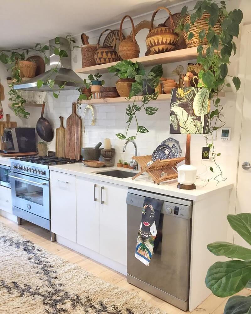 Beautiful Bohemian Style Kitchen Decoration Ideas 06
