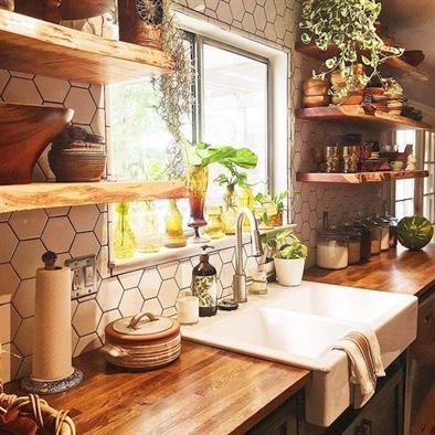 Beautiful Bohemian Style Kitchen Decoration Ideas 07
