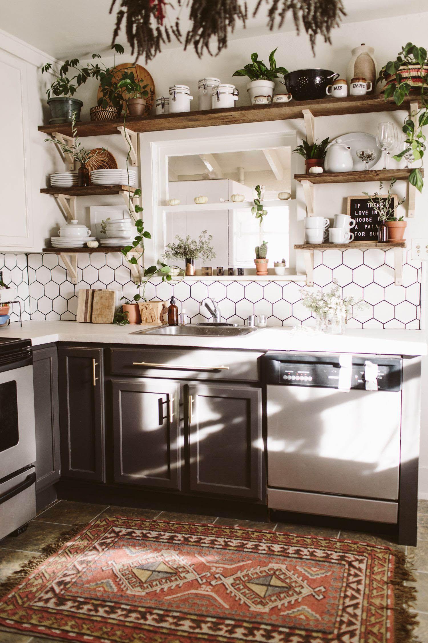Beautiful Bohemian Style Kitchen Decoration Ideas 21