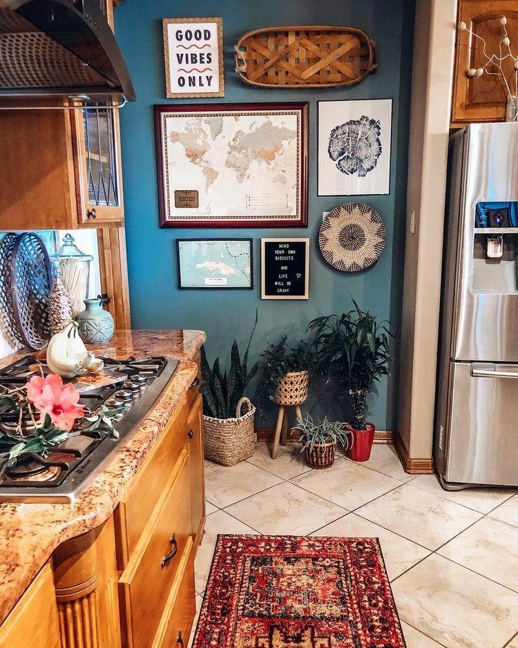 Beautiful Bohemian Style Kitchen Decoration Ideas 23