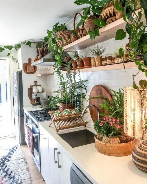 Beautiful Bohemian Style Kitchen Decoration Ideas 29