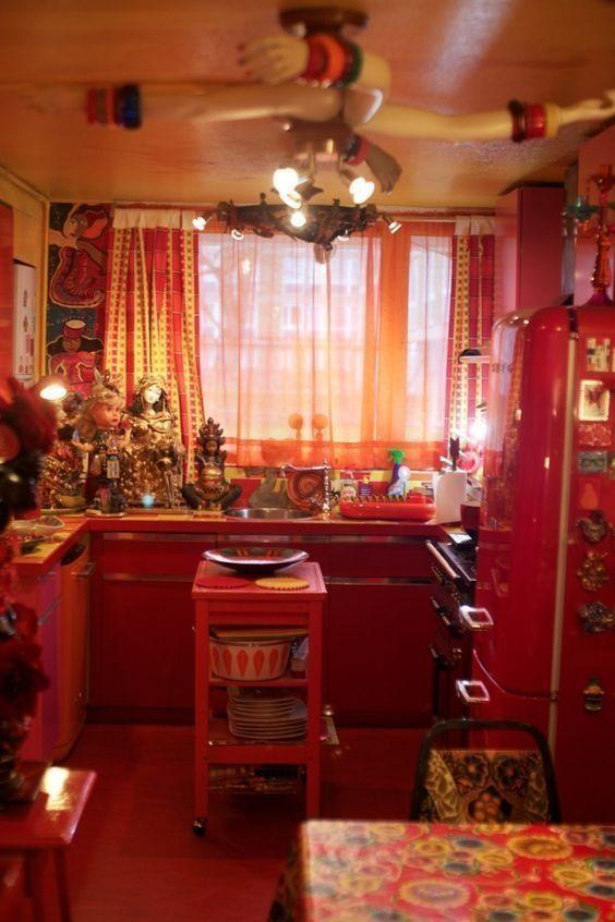 Beautiful Bohemian Style Kitchen Decoration Ideas 34
