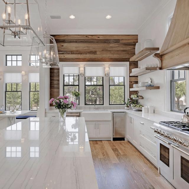 Inspiring White Kitchen Design Ideas With Luxury Accent 30