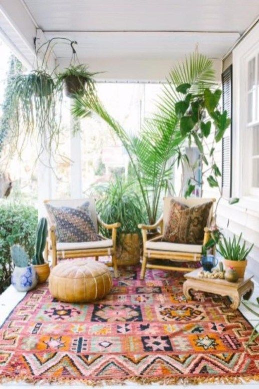 Lovely Bohemian Style Ideas For Your Outdoor Design 15