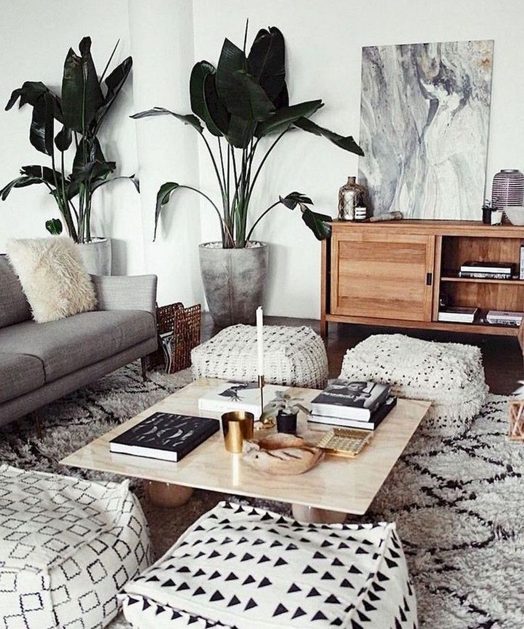 Lovely Living Room Decoration Ideas With Bohemian Style 07