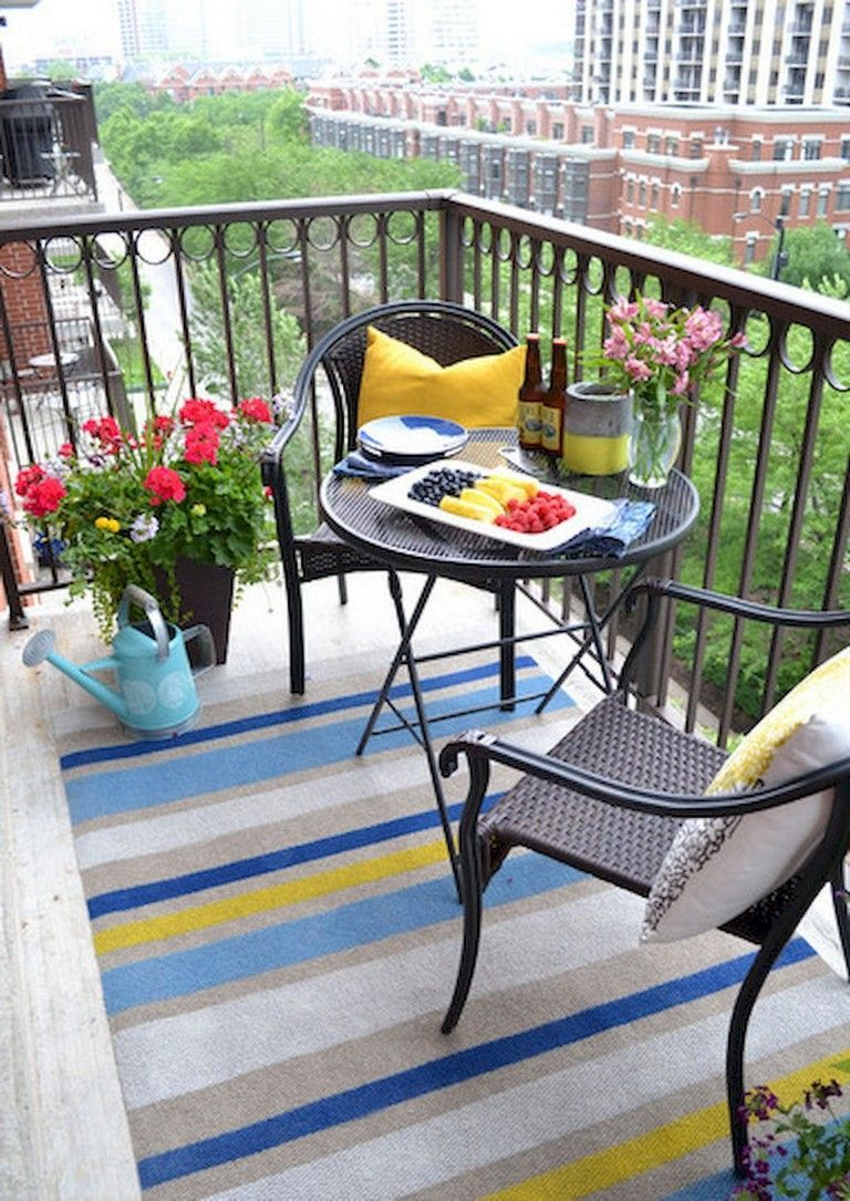 Lovely Small Porch Apartment Balconies Ideas 22