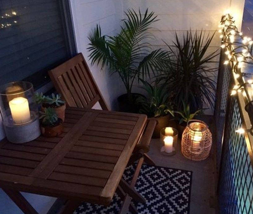 Lovely Small Porch Apartment Balconies Ideas 24