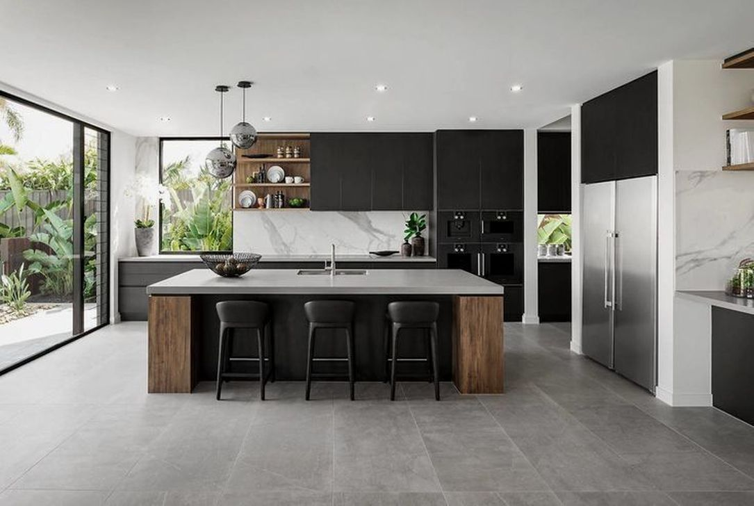 Nice Modern Kitchen Design And Decor Ideas 15