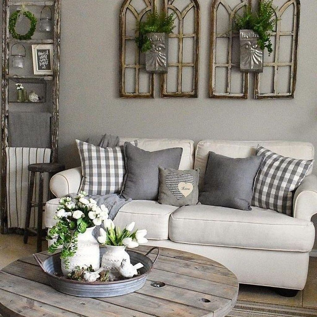 Popular Modern Farmhouse Living Room Decor Ideas 14