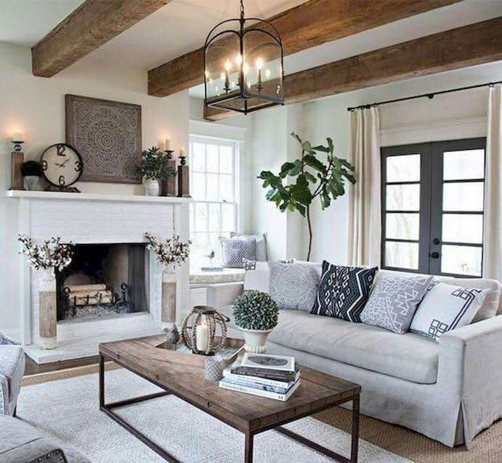 Popular Modern Farmhouse Living Room Decor Ideas 26