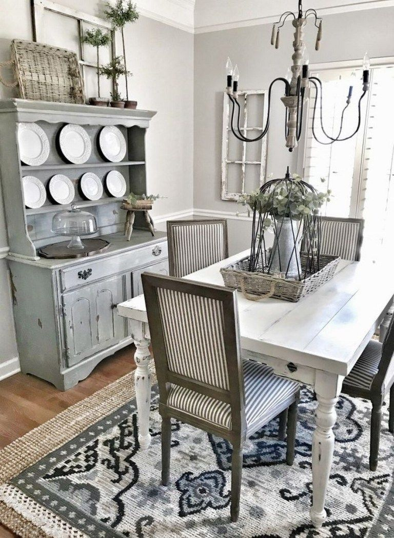 Popular Rustic Farmhouse Style Ideas For Dining Room Decor 02