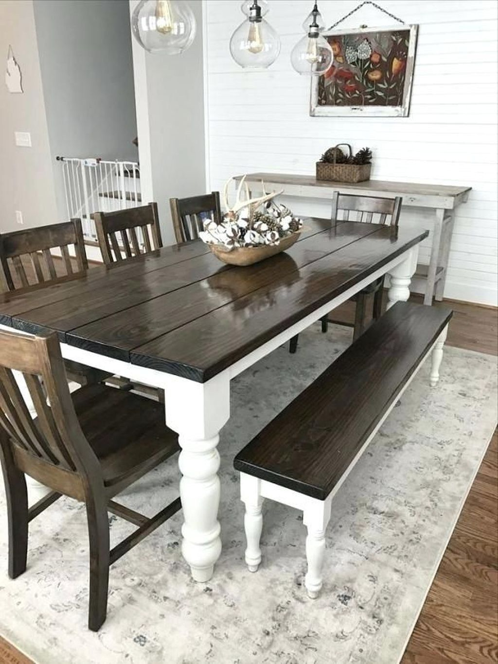 Popular Rustic Farmhouse Style Ideas For Dining Room Decor 10