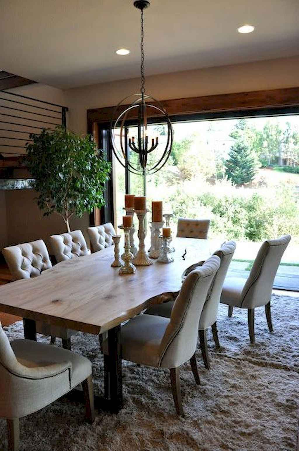 Popular Rustic Farmhouse Style Ideas For Dining Room Decor 11