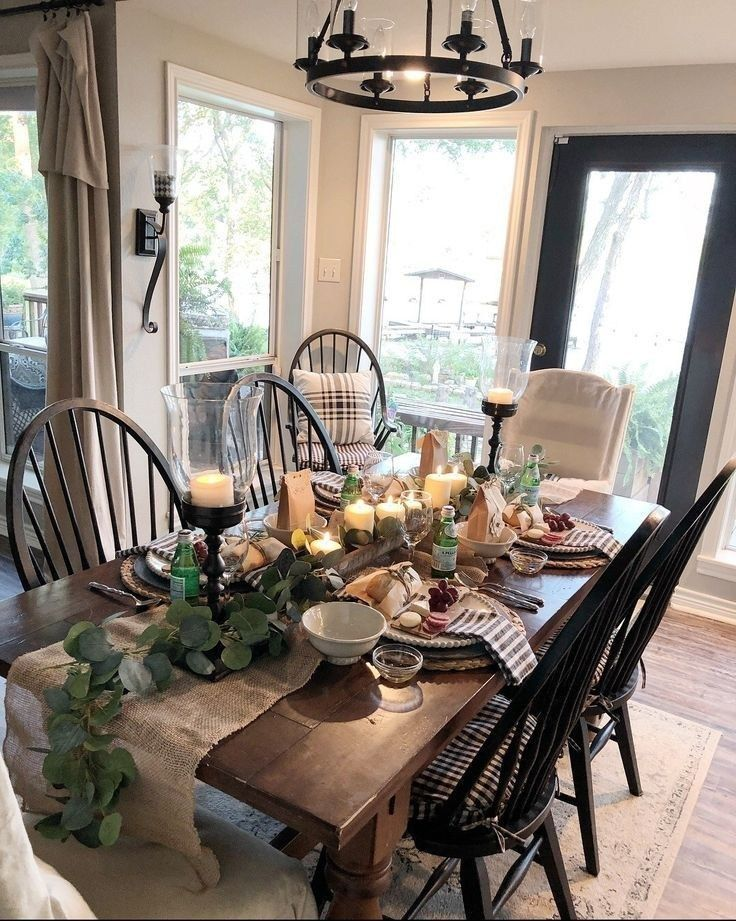 Popular Rustic Farmhouse Style Ideas For Dining Room Decor 33