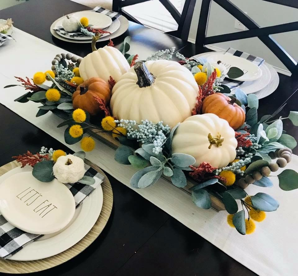 Popular Thanksgiving Table Decorating Ideas Beautiful Look 04