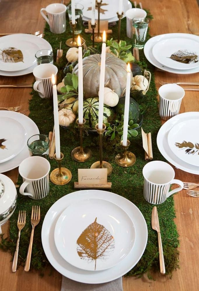 Popular Thanksgiving Table Decorating Ideas Beautiful Look 06