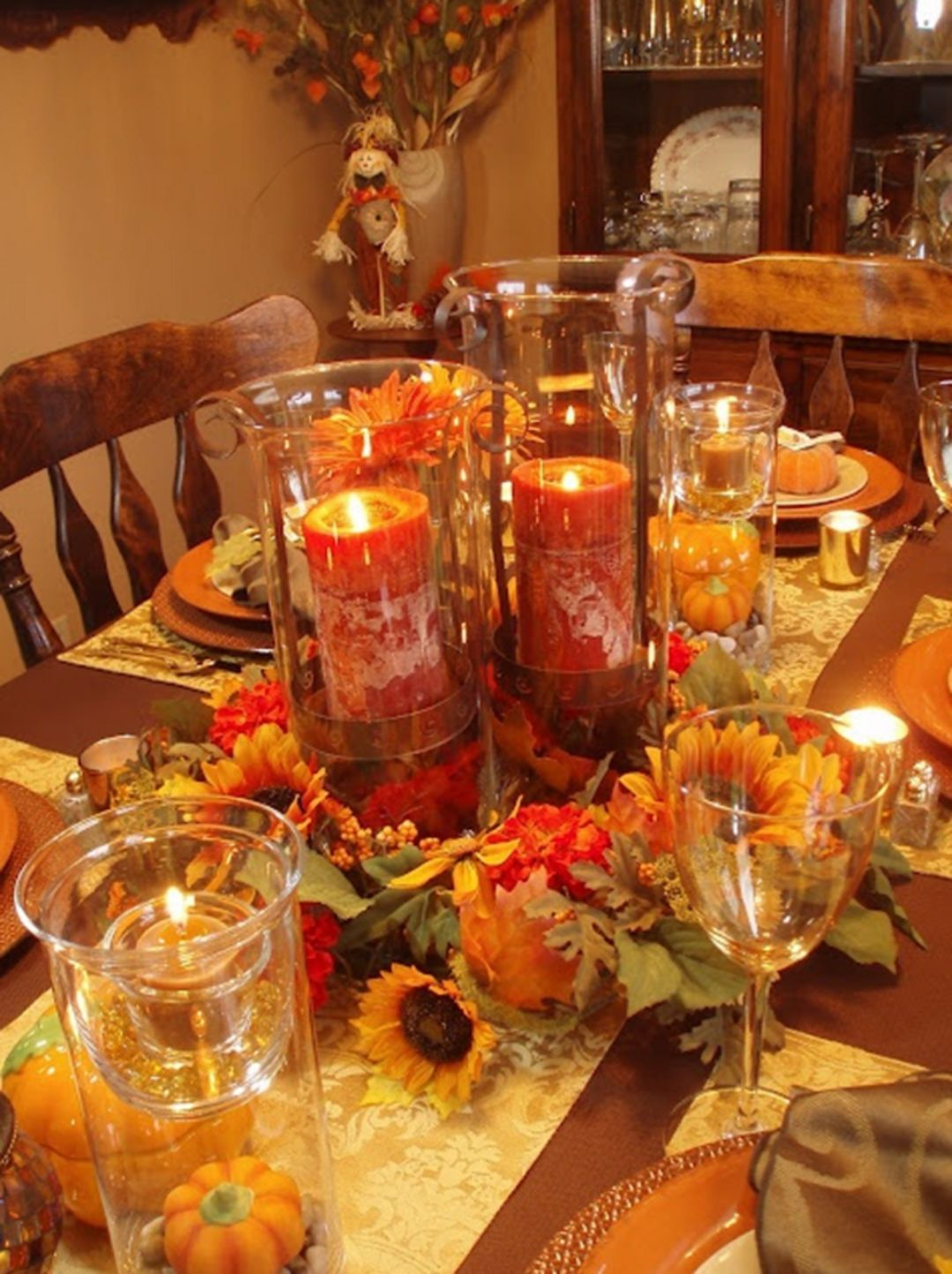 Popular Thanksgiving Table Decorating Ideas Beautiful Look 08