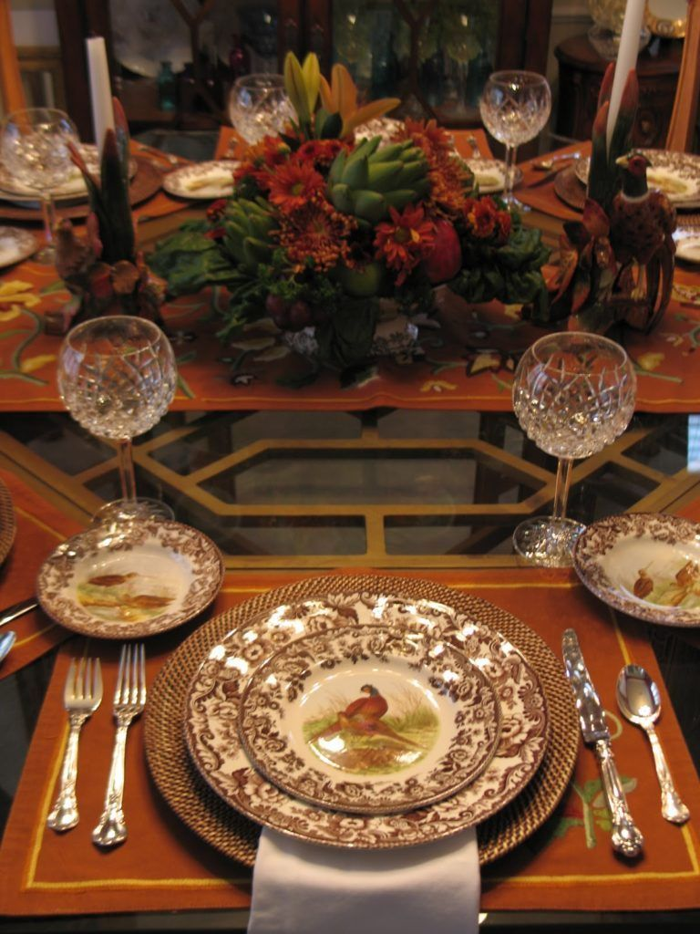 Popular Thanksgiving Table Decorating Ideas Beautiful Look 10