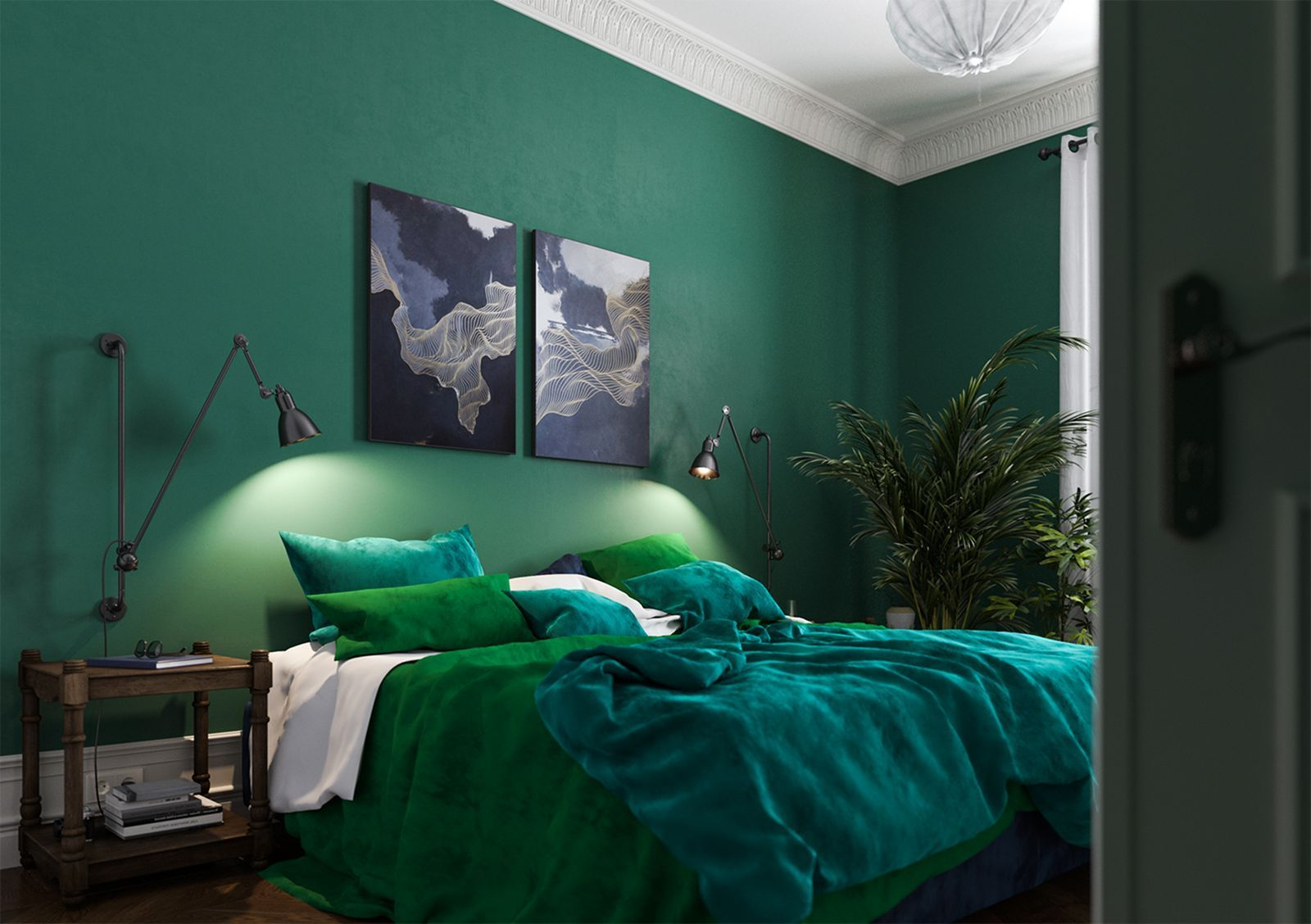 Stunning Modern Colorful Bedroom Decor Ideas 31