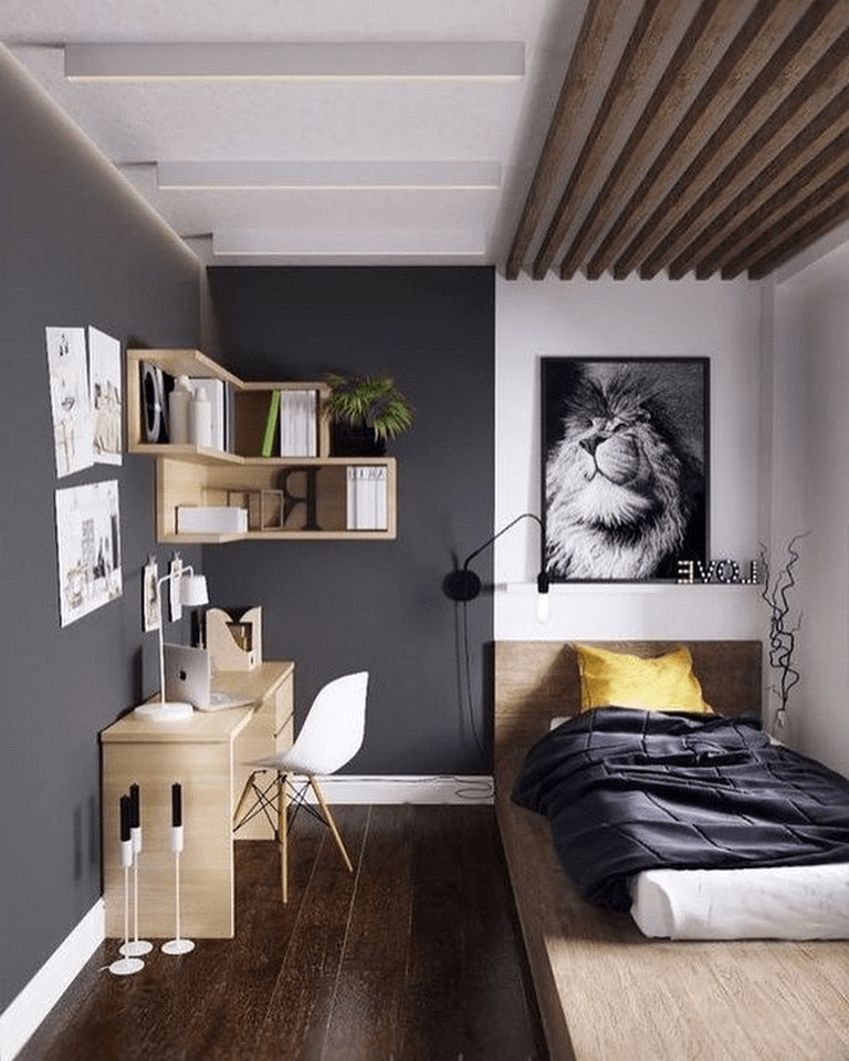 Awesome Modern Small Bedroom Design And Decor Ideas 24