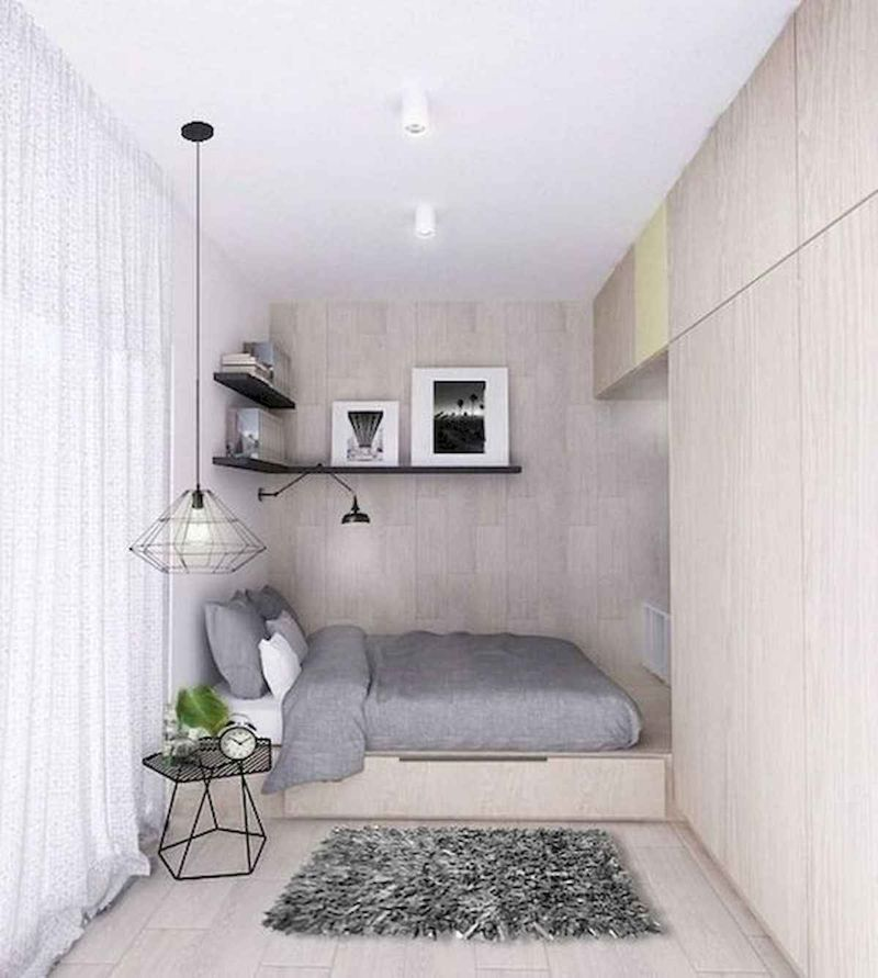 Awesome Modern Small Bedroom Design And Decor Ideas 33
