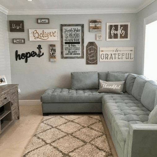 Beautiful Living Room Wall Gallery Decorating Ideas 12