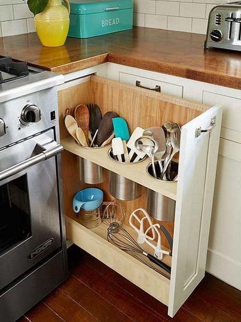 Lovely DIY Kitchen Storage Ideas To Maximize Kitchen Space 08