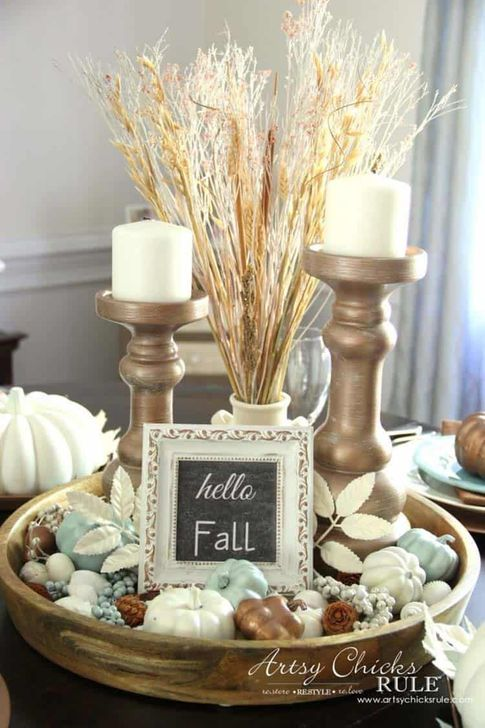 Amazing Fall Dining Table Decor Ideas For Your Dining Room Decor 23